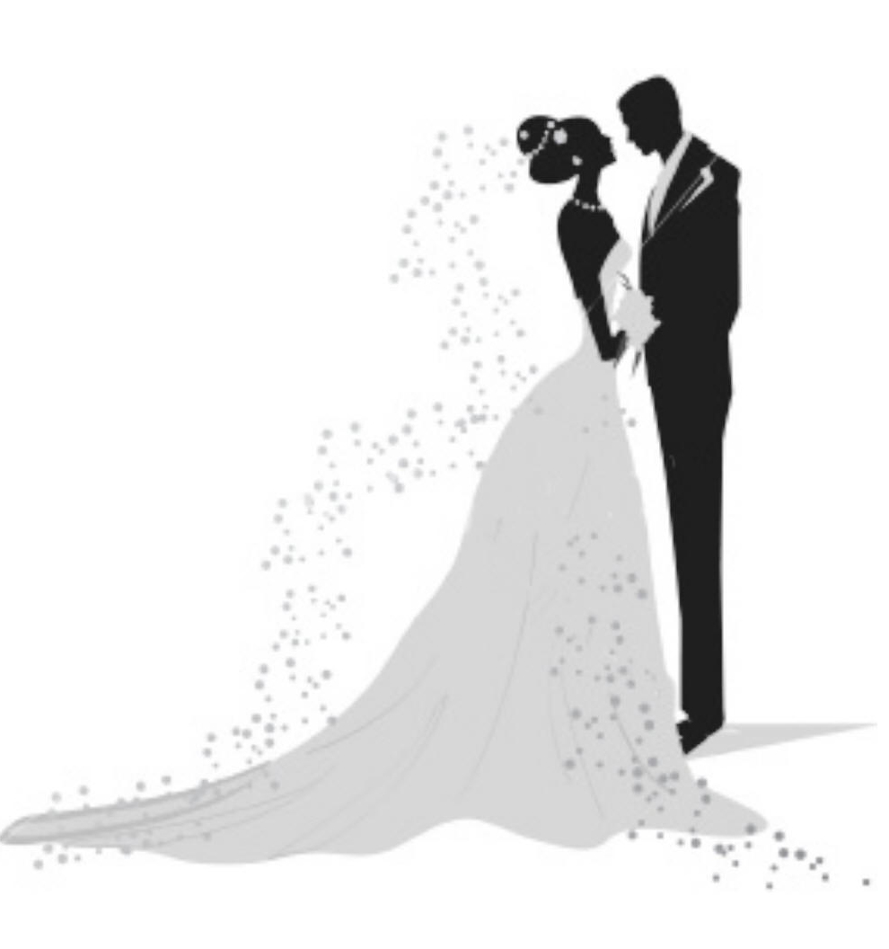 Bride and groom clipart black and white weddingdecoration