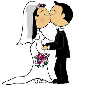 Bride and groom clipart free clipart image