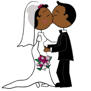 ... Bride And Groom Clipart Image - African American Bride and Groom ...