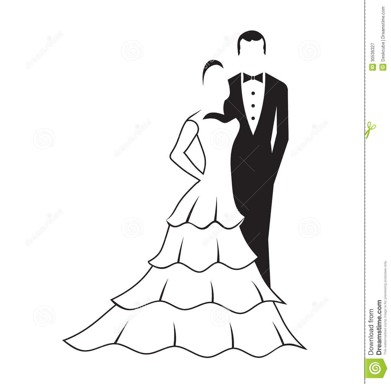 Bride and Groom Logo
