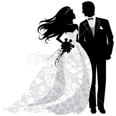 Bride And Groom Silhouette Clip Art Bride And Groom Silhouette