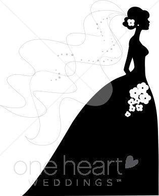 Bride and Groom Silhouette Clip Art | bride silhouette clip art pic 10 www weddingclipart com 20 kb 315 x ... | Ideas | Pinterest | Beautiful, Clip art and ...