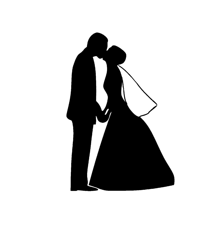 Bride And Groom Silhouette Clip Art Clip-Bride And Groom Silhouette Clip Art Cliparts Co-4