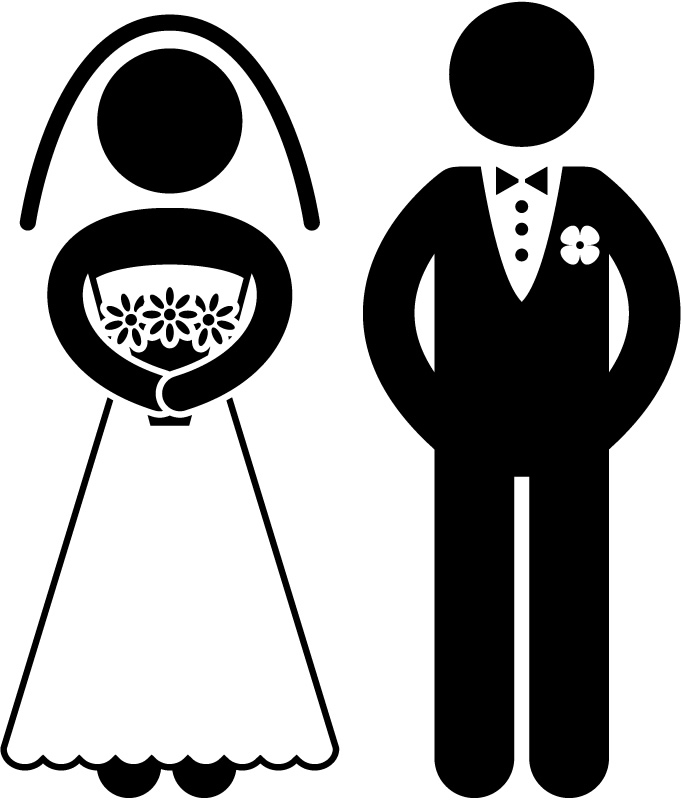 Bride And Groom Silhouette Wa - Groom Clipart
