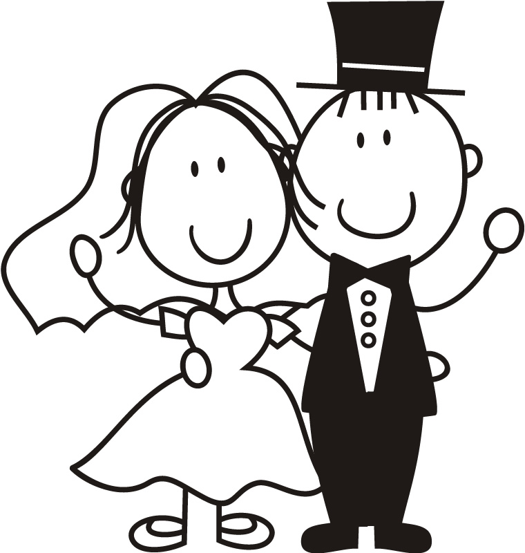 Bride groom clipart free - .