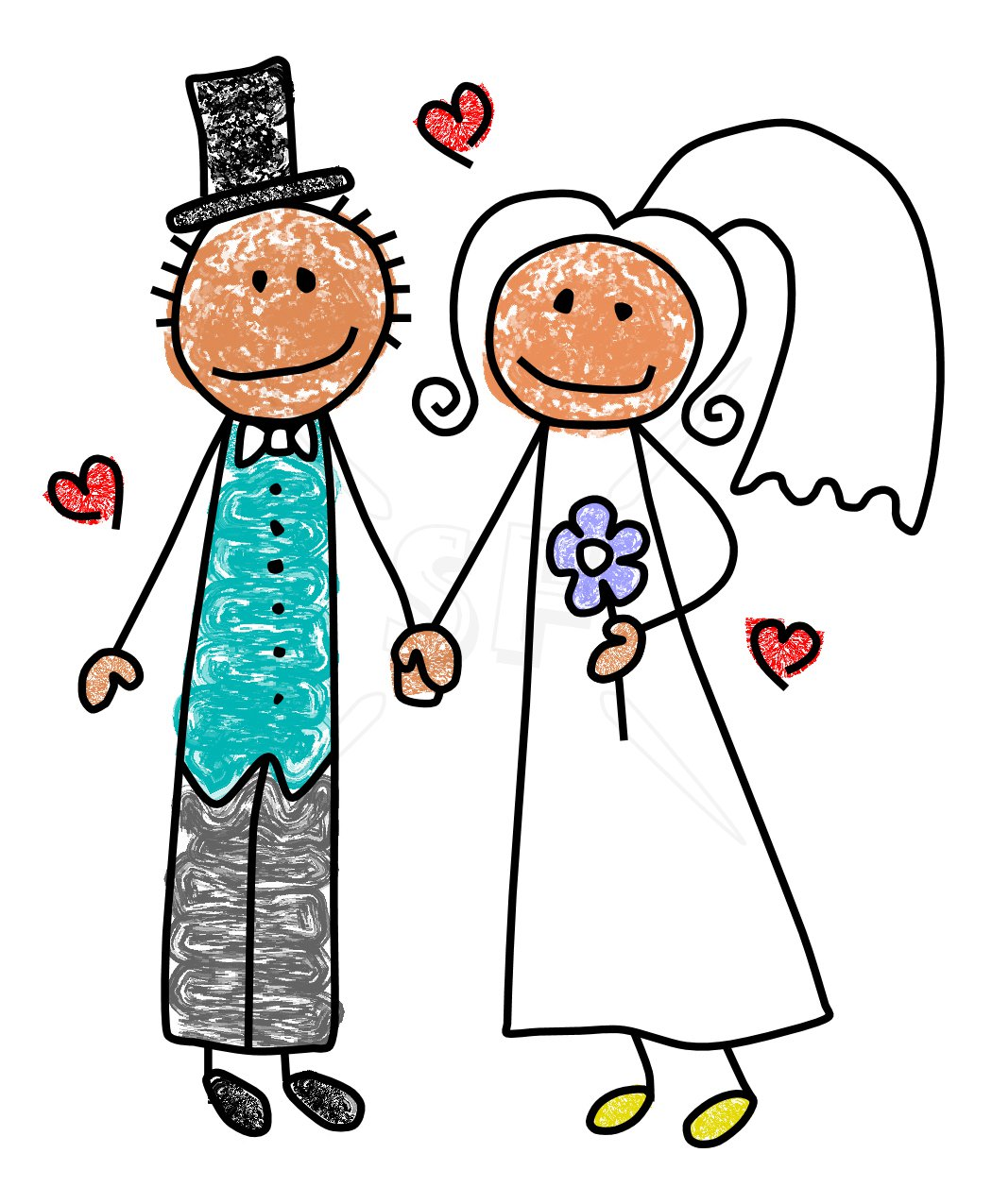 Bride Groom Stick Figures 10 Images