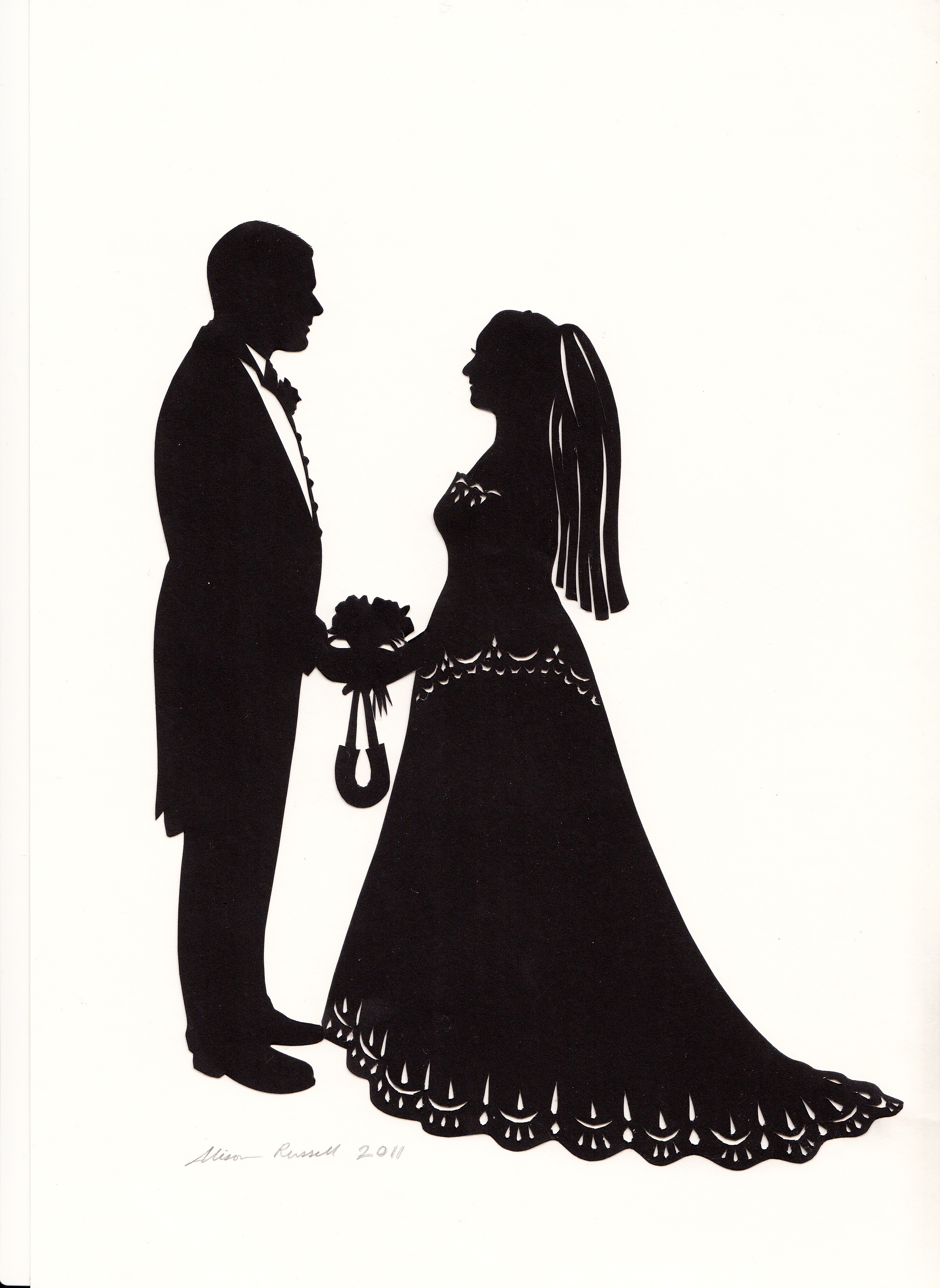 Bride Silhouette Png Bride And Groo Pics For Bride