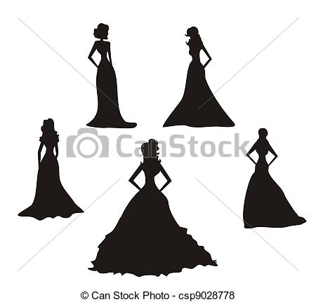 ... Bride silhouettes set-... Bride silhouettes set-10