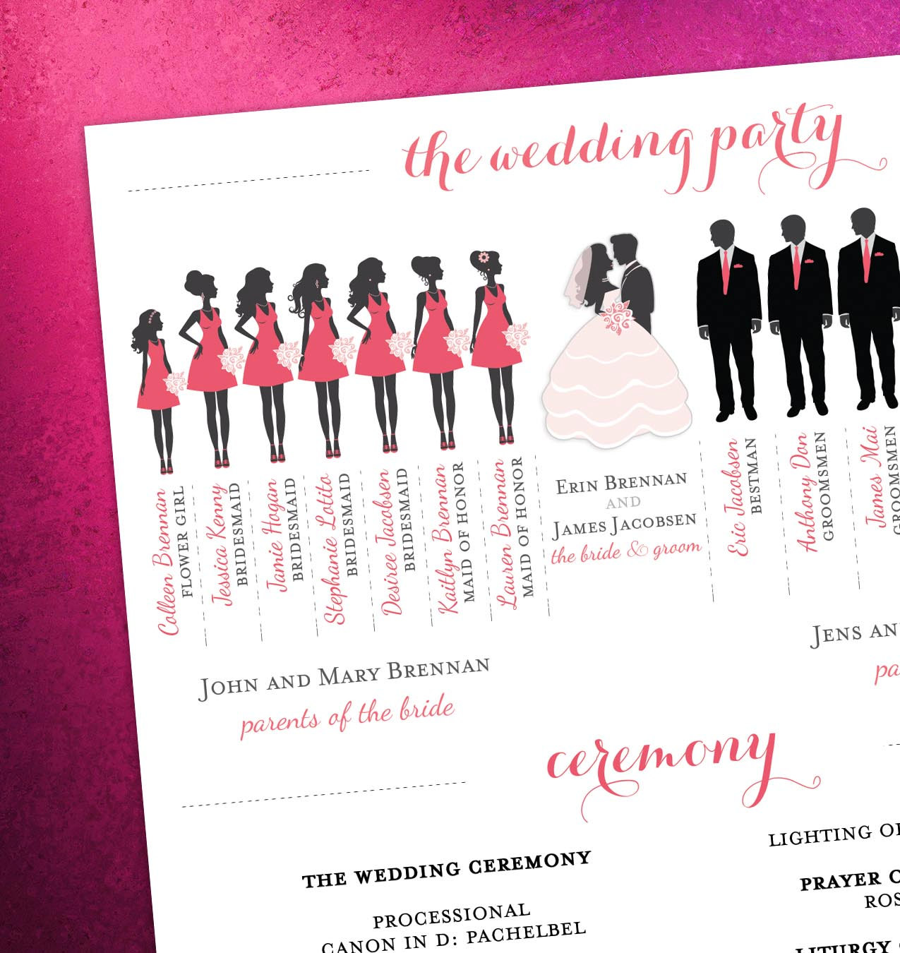 Bridesmaid Clipart Silhouette - Wedding Party Clipart