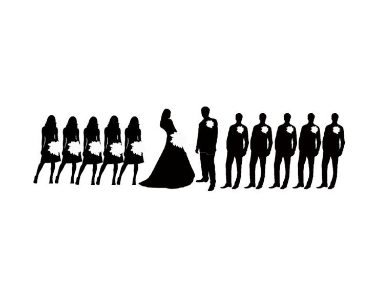 Bridesmaid silhouette clip art - Clipart-Bridesmaid silhouette clip art - ClipartFest-2