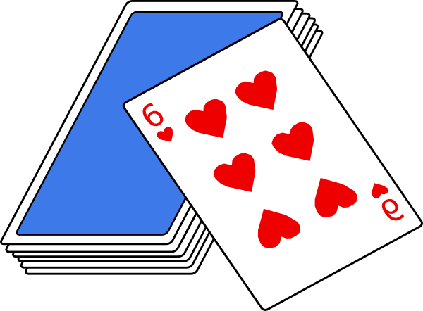 Bridge Card Game Clip Art