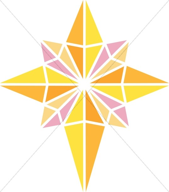 Bright Nativity Star Clipart