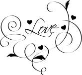 Bright Pink Heart Clipart U0026middot; L-Bright Pink Heart Clipart u0026middot; Love Flourish Cipart-1