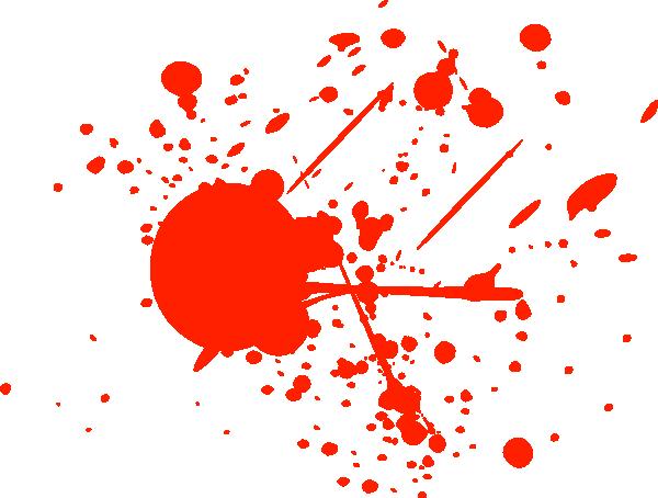 Bright Red Splatter Clip Art  - Blood Splatter Clipart