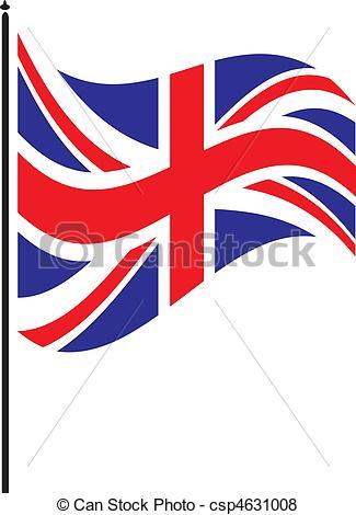 british flag - flapping briti - British Flag Clip Art