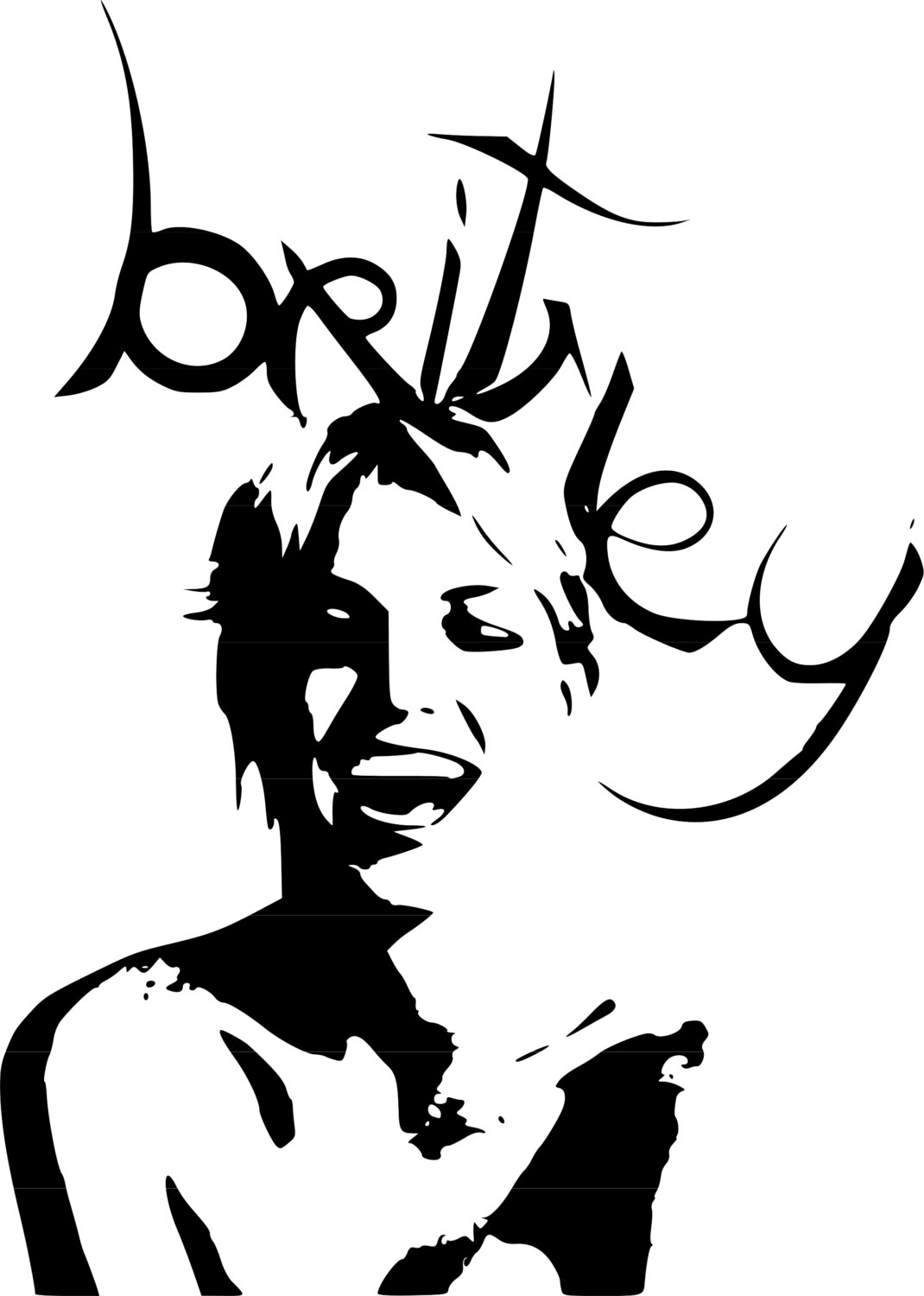 Britney Spears - Pop Music - Vinyl Decal - Baby One More Time -  GodGiveMeTruth by GGMTgodgivemetruth on Etsy