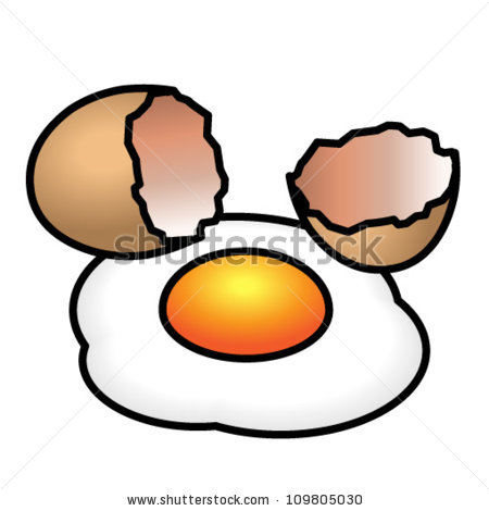 broken egg clipart