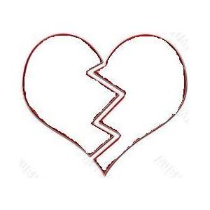 broken heart clipart black and white-broken heart clipart black and white-13