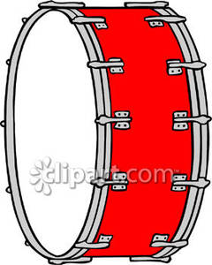 Broken Bass Drum Clipart #1
