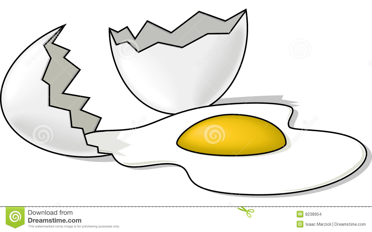 Broken Egg Stock Images Image 8238954