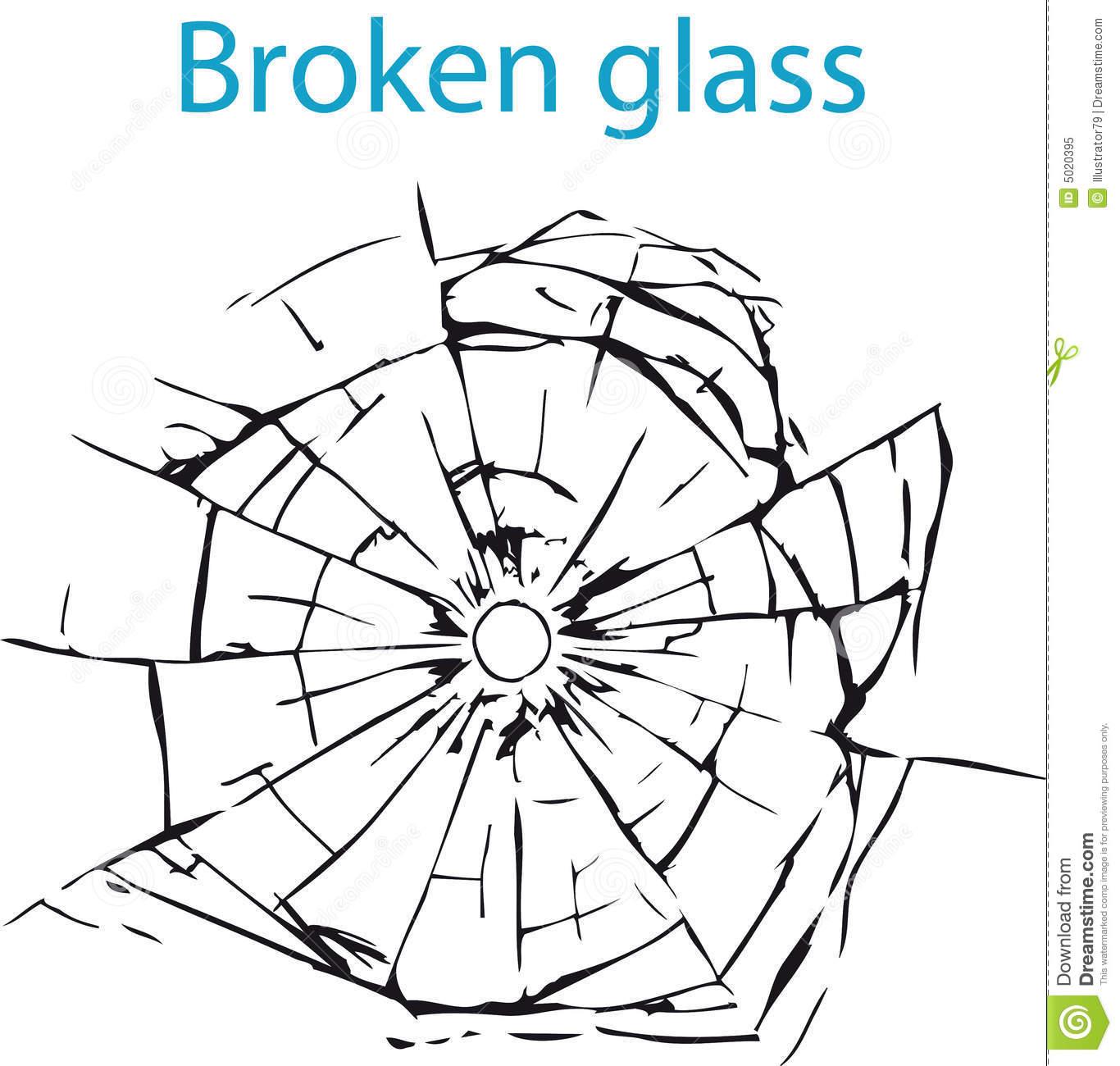 Broken Glass Royalty Free .