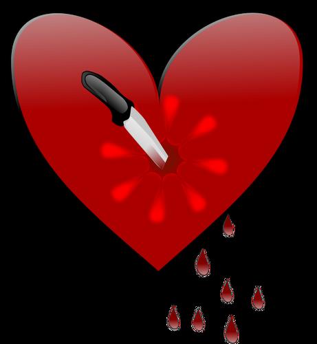 Broken heart vector clip art graphics