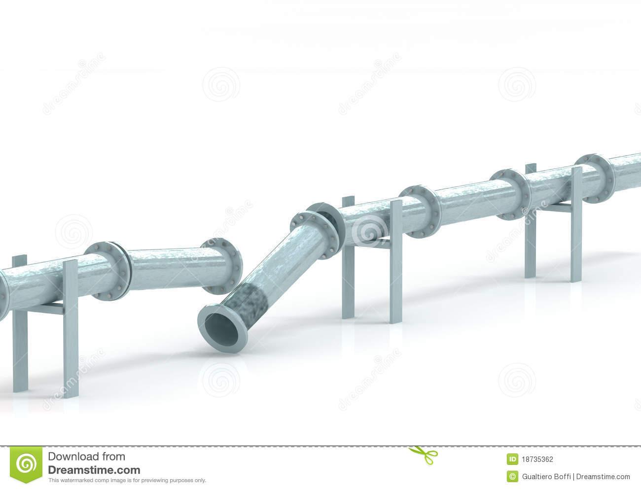 Broken pipeline Stock Photography