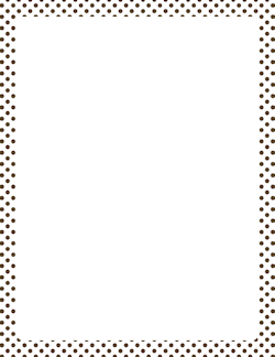 Brown and White Polka Dot Border