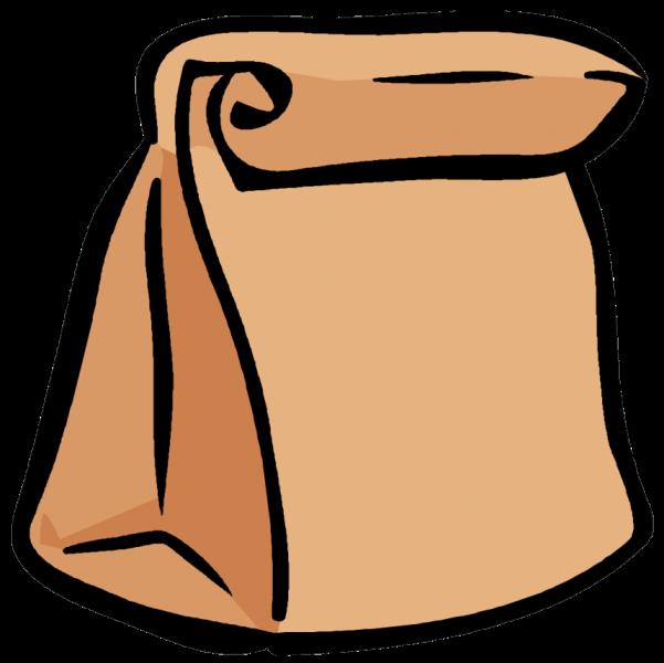 Brown Bag Lunch Clip Art
