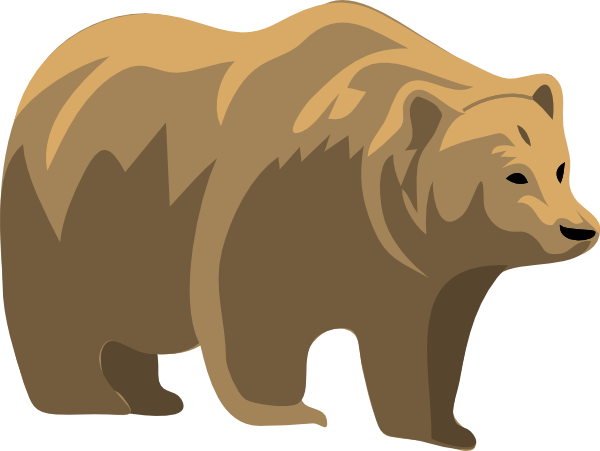Brown Bear Clip Art At Clker Com Vector Clip Art Online Royalty