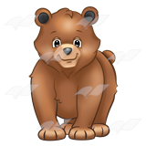 Brown Bear Cub Clipart #1