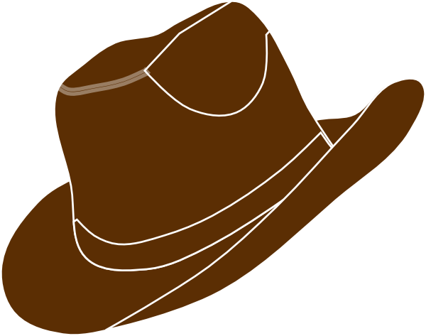 Brown Cowgirl Hat Clip Art At Clker Com Vector Clip Art Online