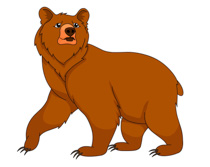 brown grizzly bear clipart. Size: 96 Kb