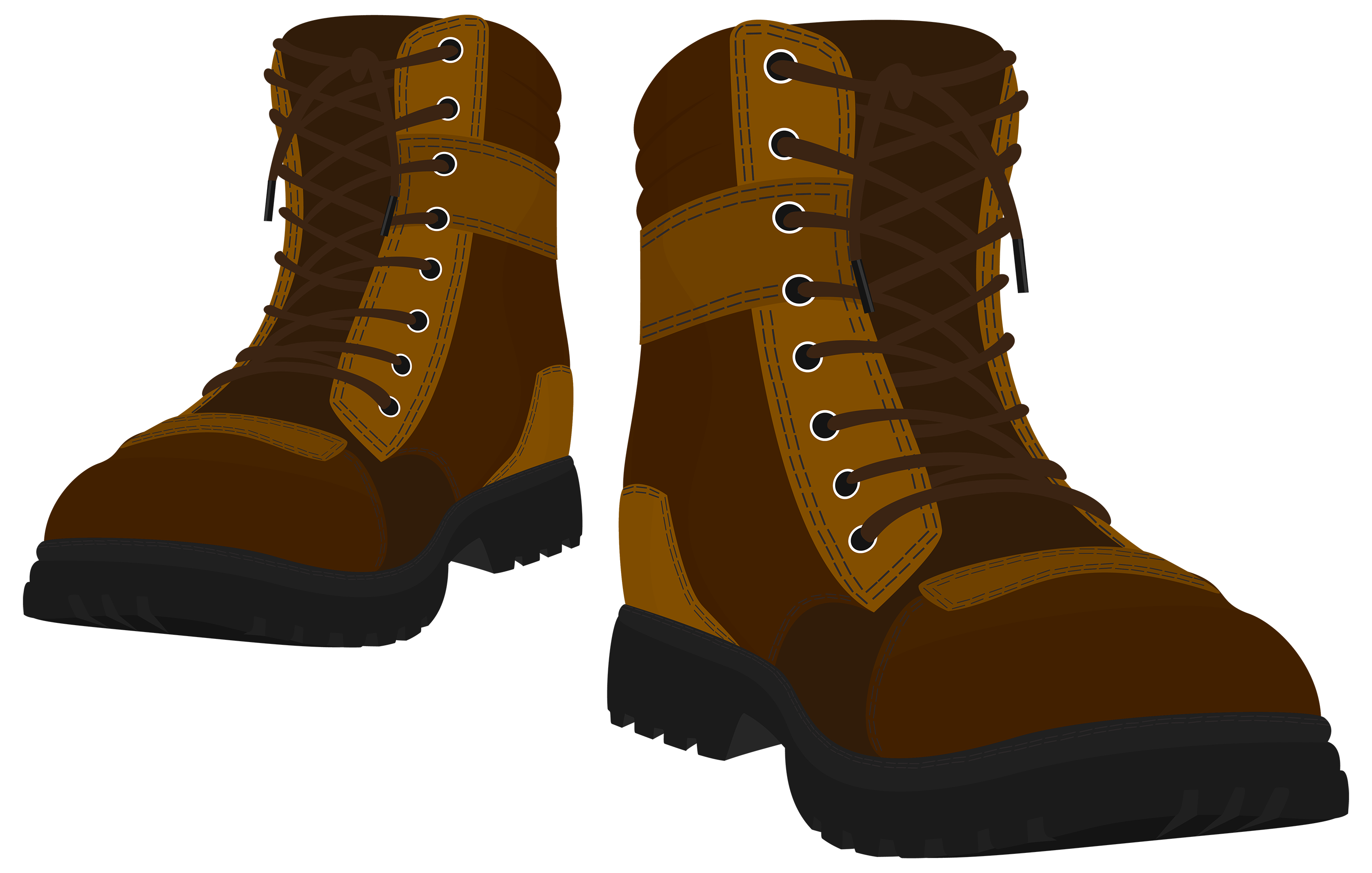 Brown Male Boots PNG Clipart .