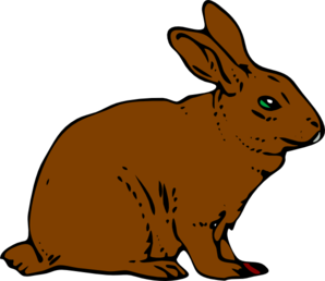 Brown rabbit clip art at clker vector clip art