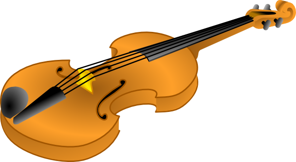 Brown Violin clip art - vector .-Brown Violin clip art - vector .-5