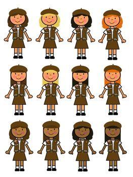 BROWNIE GIRL SCOUT CLIP ART - TeachersPayTeachers clipartall.com
