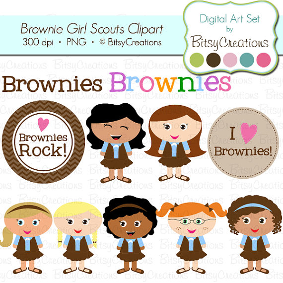 Brownie Girl Scouts Digital A - Girl Scout Brownie Clip Art