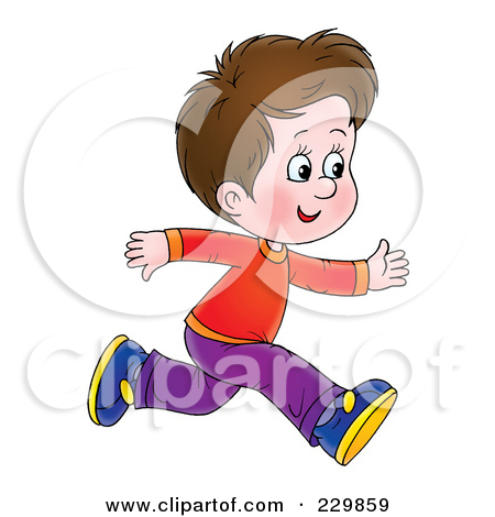 Brunette Boy Running - 1 by Alex Bannykh