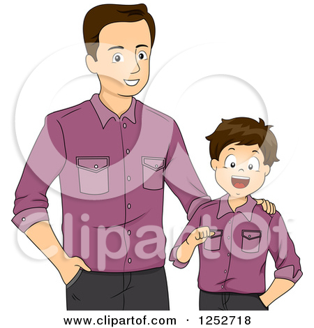 Brunette Caucasian Father And Son Wearin-Brunette Caucasian Father And Son Wearing Matching Shirts by BNP Design Studio-5