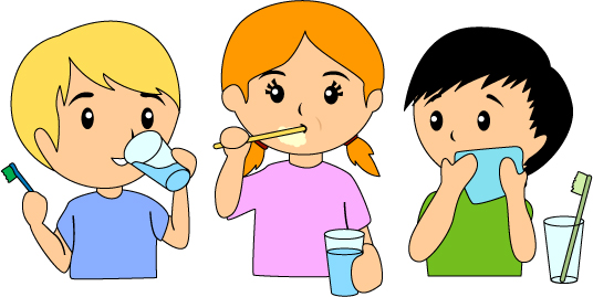 brushing teeth clip art .