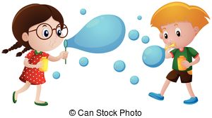 . ClipartLook.com Boy And Girl Blowing B-. ClipartLook.com Boy and girl blowing bubbles illustration-11