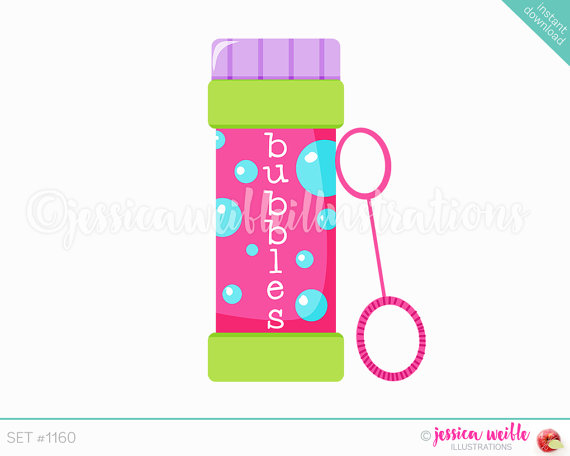Instant Download, Bottle Of Bubbles Cute-Instant Download, Bottle of Bubbles Cute Digital Clipart, Cute Bubbles Clip  art, Bubble Bottle Graphics, Bubble Wand Illustration, #1160-17