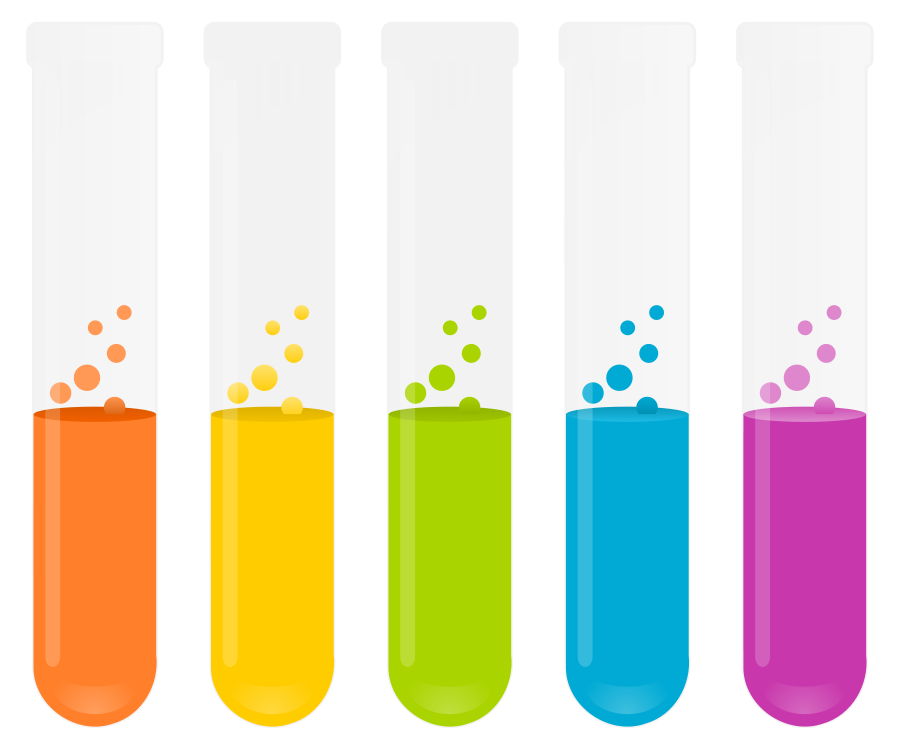 bubbling test tube clipart