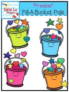 Bucket Filler Clip Art. Teacher Graphics