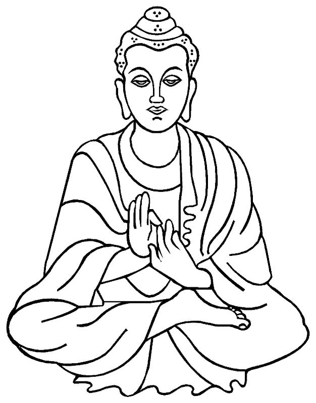 Buddha Drawing. Buddha cliparts. Free Religion Clipart