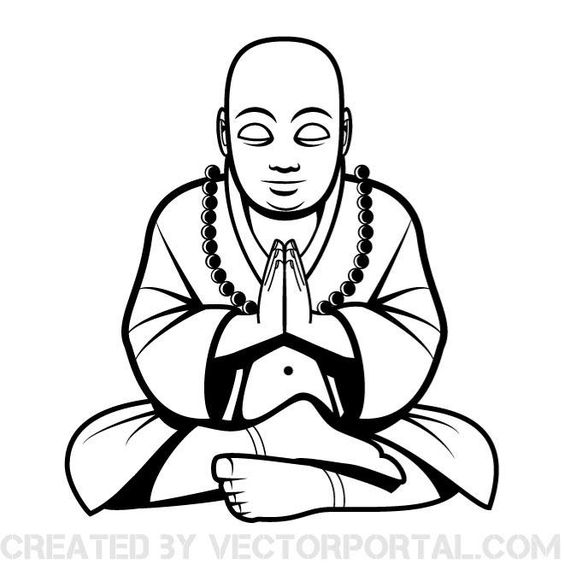 Buddha vector clip art.
