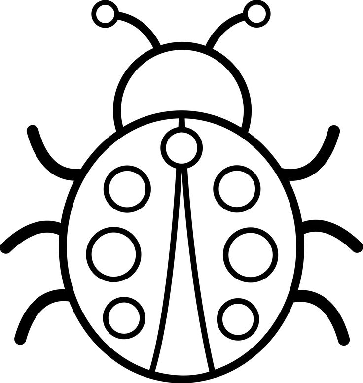 Bug Black And White Clipart. bug clipart