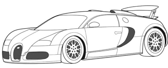 Bugatti Veyron Super Car Coloring Page - Bugatti car coloring pages