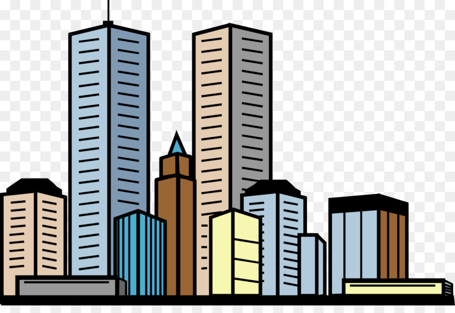 Building Skyscraper Apartment Clip art - Public Building Cliparts